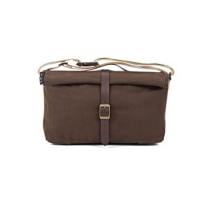 Brompton Roll Top Bag - Khaki Waxed Canvas