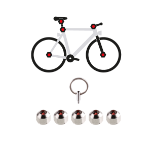 Hexlox Total Bike Security Set (5 Hexlox, 1 Key)