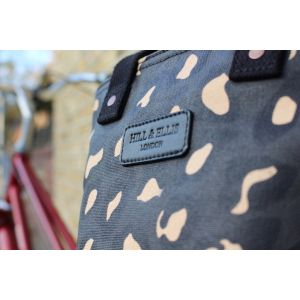 Hill & Ellis Leola Leopard Print Canvas Bag