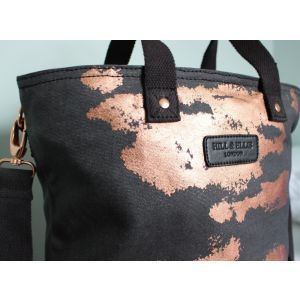 Hill & Ellis Rusty Charcoal & Copper Print Canvas Bag