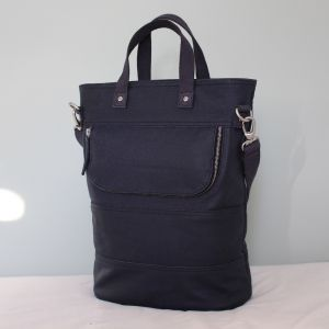 Hill & Ellis Skye Navy Canvas & Nickel Bag
