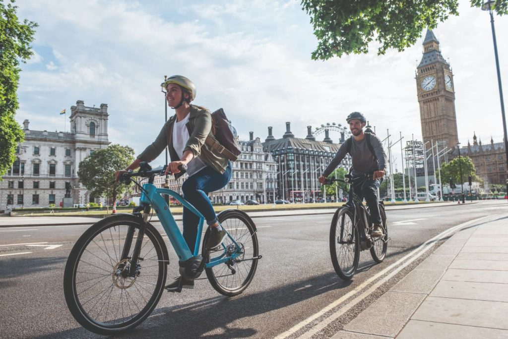 Riding electric bikes across London