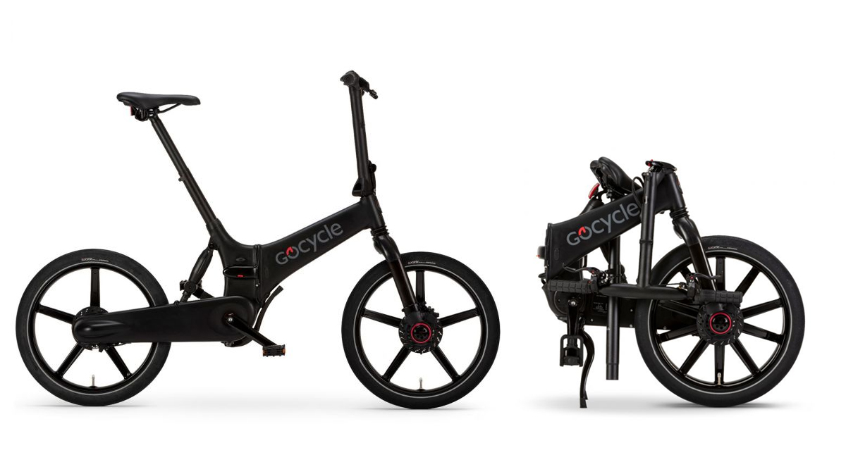 Gocycle GX electric bike unfolded and fodled